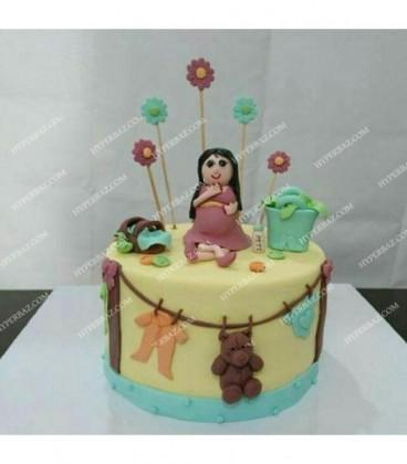 کیک بارداری طرح 2