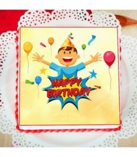 کیک تصویری تولد (تصویر دلخواه)