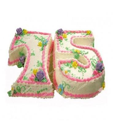 کیک تولد طرح دو عدد