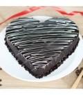 کیک شکلاتی طرح قلب 1