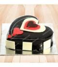 کیک شکلاتی طرح قلب