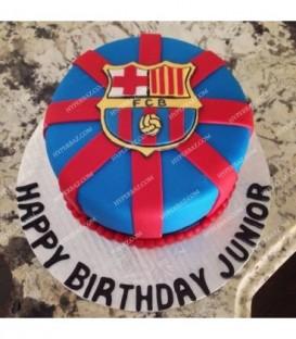 کیک طرح تیم بارسلونا 1