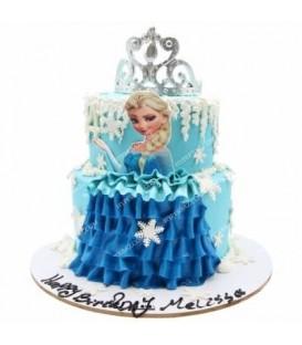کیک طرح عروسک آبی