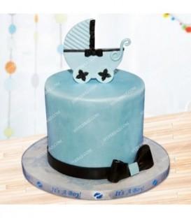 کیک طرح کالسکه نوزاد