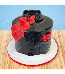 کیک طرح لباس مشکی