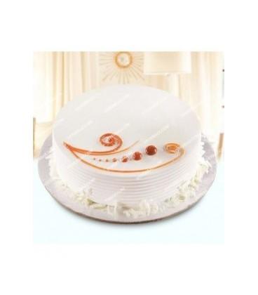 کیک وانیلی طرح آرامش