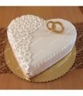 کیک عاشقانه طرح حلقه
