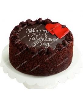 کیک شکلاتی طرح قلعه قلبی