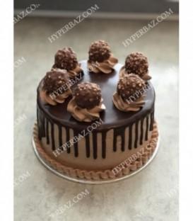 کیک طرح توپ شکلات