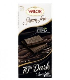 شکلات تلخ 70% بدون شکر 100 گرمی والور