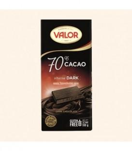 شکلات تلخ 70% 100 گرمی والور