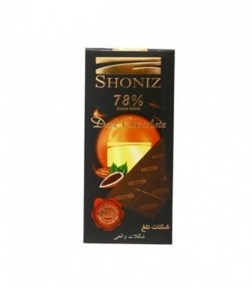 شکلات تابلت تلخ 78% 100 گرمی شونیز