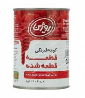 گوجه خرد شده 380 گرمی روژین