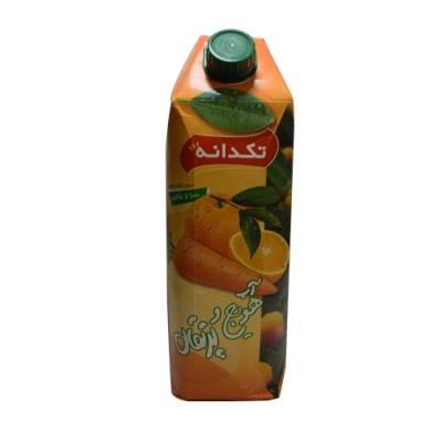 آبمیوه هویج پرتقال 1 لیتری تکدانه