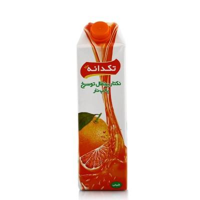 آبمیوه پرتقال پالپ دار تو سرخ 1 لیتری تکدانه