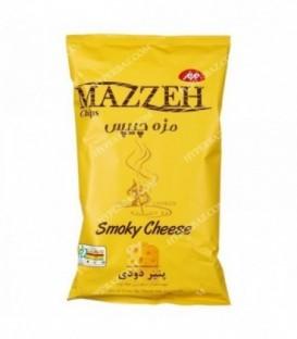 مزه چیپس متوسط پنیر دودی 60 گرمی مزمز