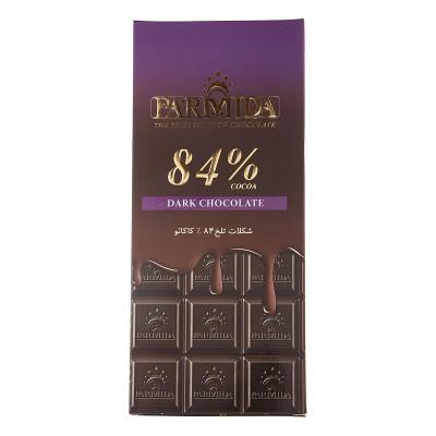 شکلات تابلت تلخ 84% 80 گرمی پارميدا