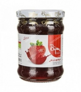 مربا شیشه توت فرنگی 290 گرمی بیژن