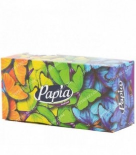 دستمال کاغذی 2 لایه 150 برگ طرح گل و پروانه پاپیا