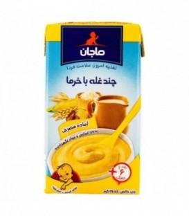 غذای کودک چند غله با خرما و شیر 125 گرمی ماجان کاله