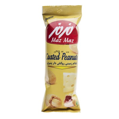 بادام زمینی روکش دار پنیری 25 گرمی مزمز
