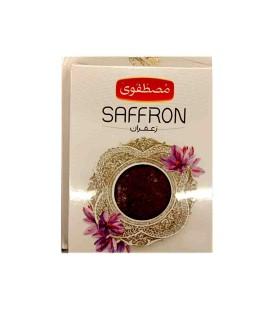 پک زعفران یک مثقال همراه با نیم مثقال رایگان مصطفوی