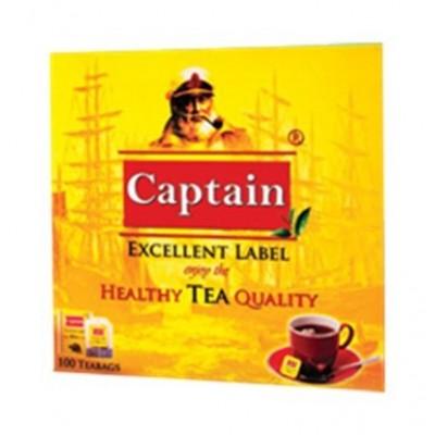چاي تي بگ 100 عددي ساده پاکت دار کاپيتان