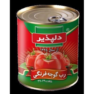 رب گوجه قوطی آسان باز شو 800 گرمی دلپذیر