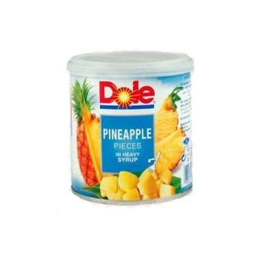 کمپوت آناناس خرد 439 گرمی چنگالدار DOLE