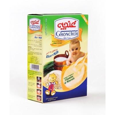 مکمل غذايي کودکان برنجين 300 گرمی با شير غنچه