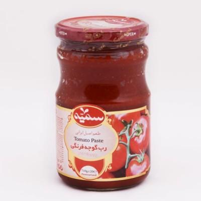 رب گوجه فرنگی شیشه 710 گرمی سمیه