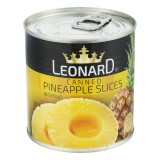کمپوت آناناس حلقه 425 گرم قوطي لئونارد