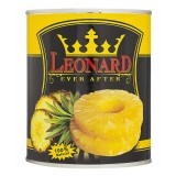 کمپوت آناناس حلقه 850 گرم قوطي لئونارد