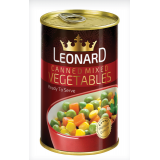 کنسرو سبزيجات 400 گرم قوطي لئونارد