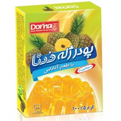 پودر ژله آناناس 100 گرمی درنا