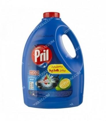 مایع ظرفشویی 3750 گرمی رایحه لیمو پریل